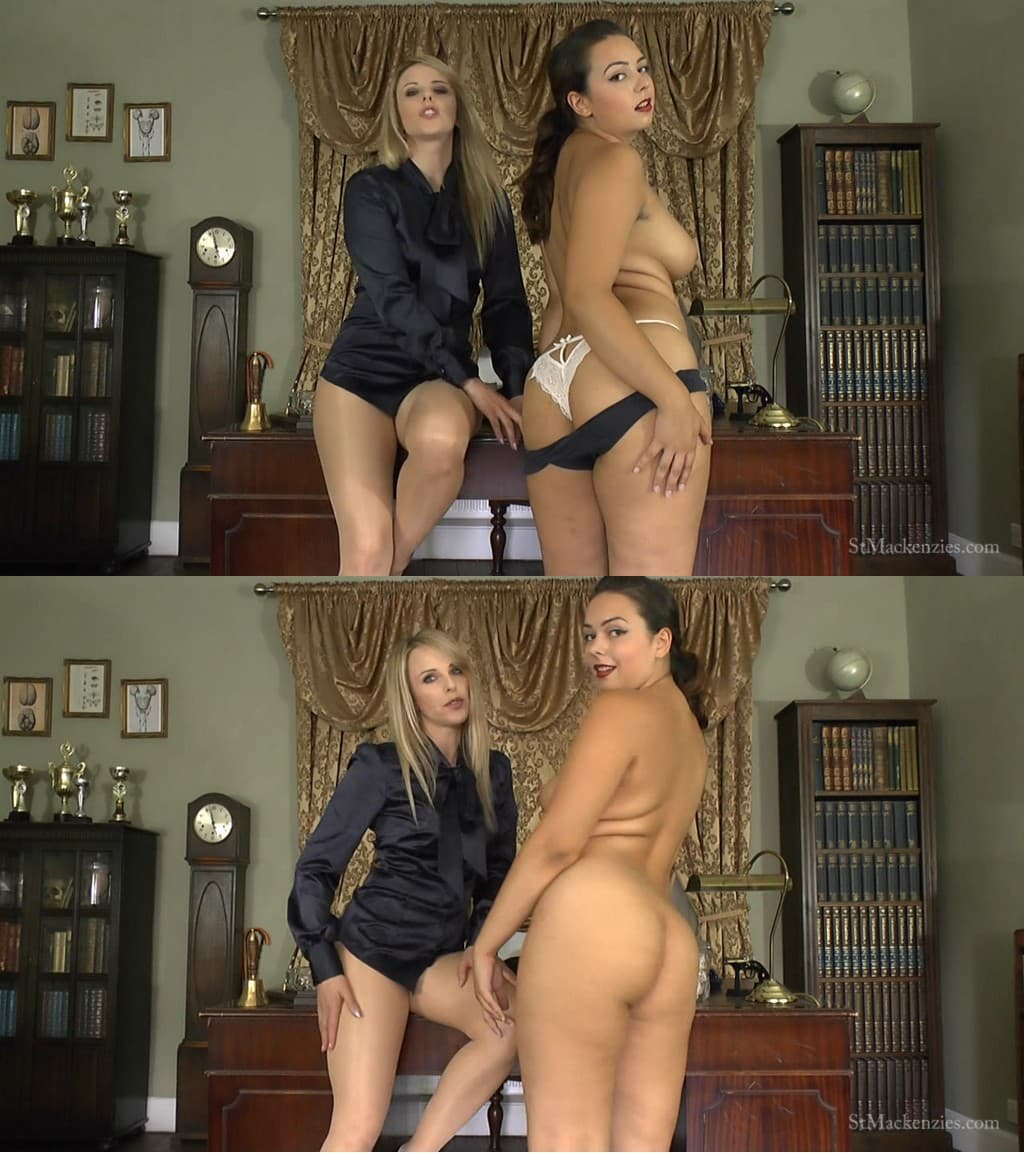 St Mackenzie's – MP4/HD – Alicia Cornell, Headmistress Mackenzie – Mean Headmistress Mackenzie & Sexy Student Alicia Make You Worship Their Big Round Asses