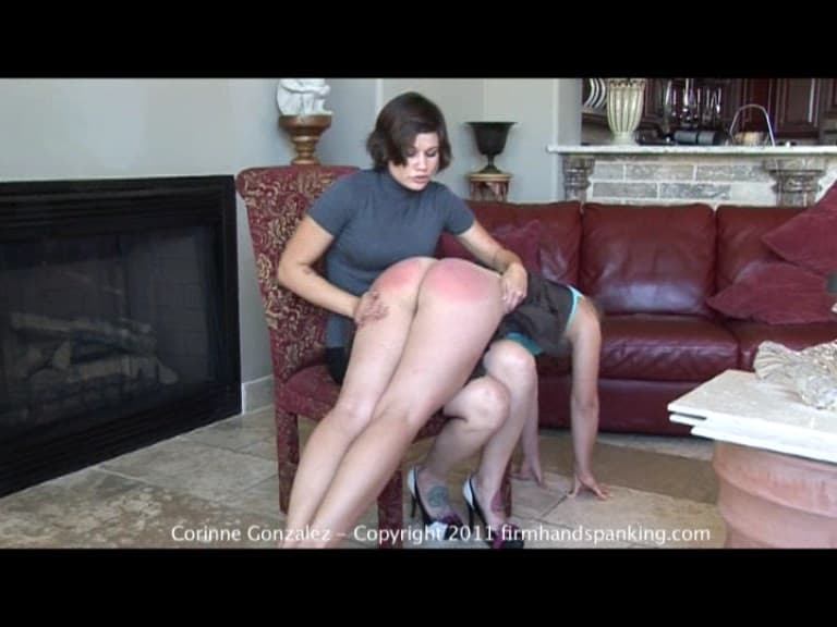 Firm Hand Spanking – MP4/SD – Corinne Gonzalez – Maid Trouble – C