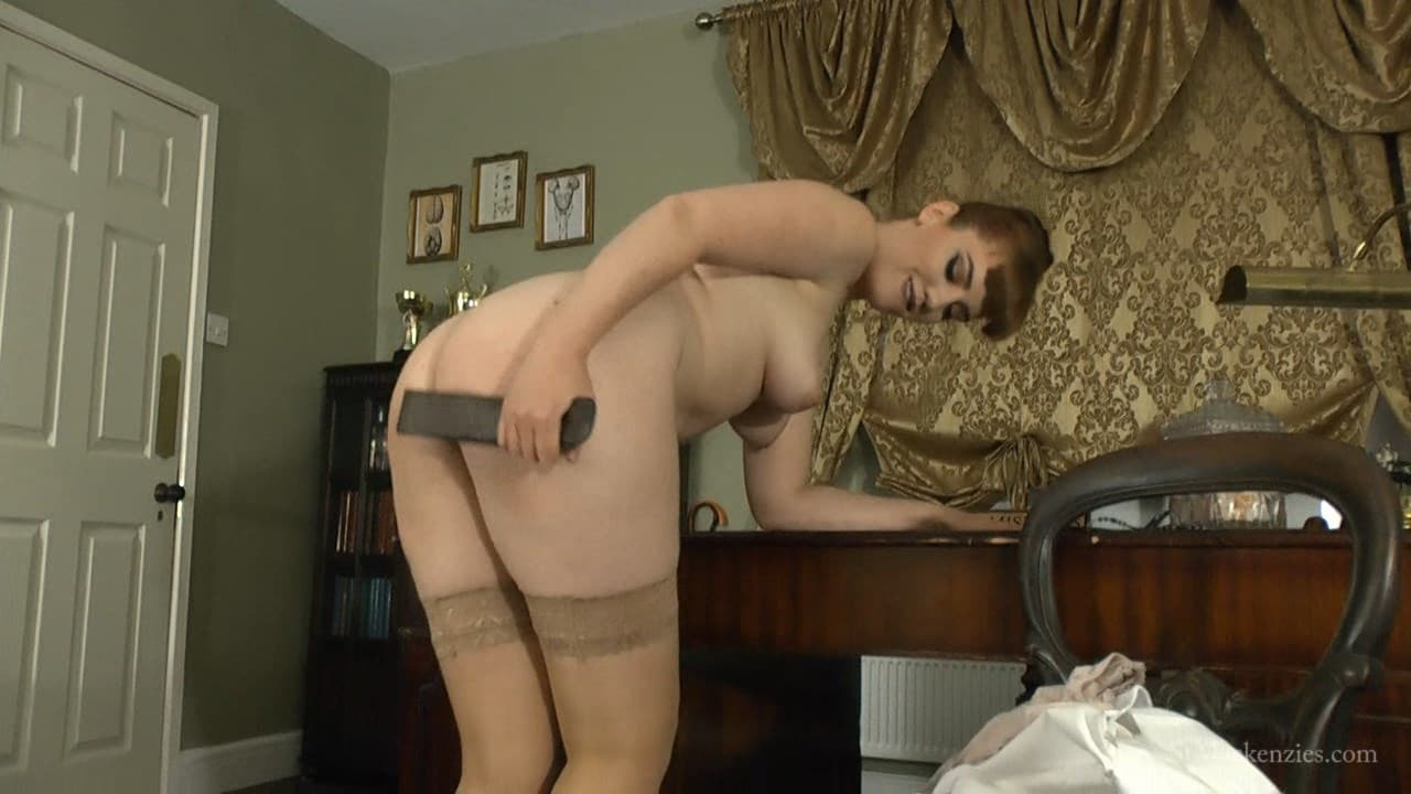 St Mackenzie's – MP4/Full HD – Miss Page – Sexy Teacher Miss Page Plays With A Leather Strap While Stripping Nude