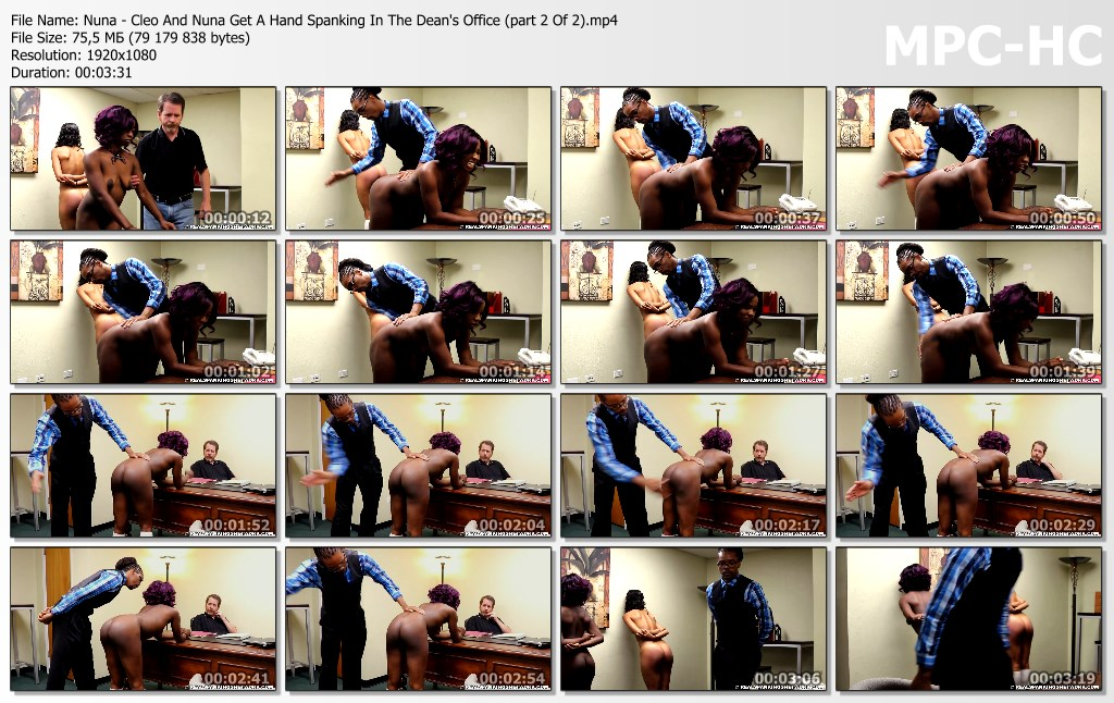 Nuna Cleo And Nuna Get A Hand Spanking In The Deans Office part 2 Of 2.mp4 thumbs - Real Spankings Institute – MP4/Full HD – Nuna - Cleo And Nuna Get A Hand Spanking In The Dean's Office (part 2 Of 2)