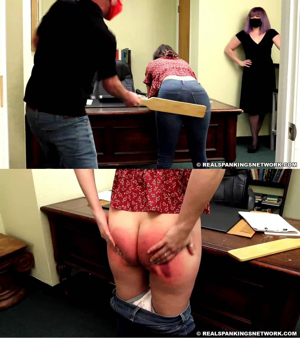 Real Spankings – MP4/Full HD – Kaylee – Paddled For Going Off Campus