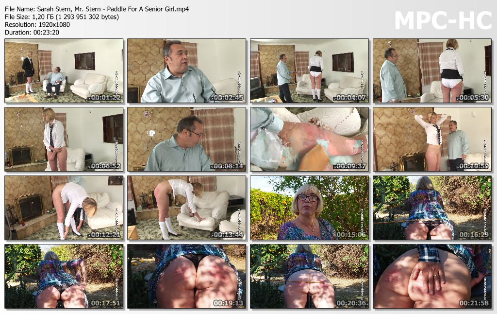 Sarah Stern Mr. Stern Paddle For A Senior Girl.mp4 thumbs - Spanking Sarah – MP4/Full HD – Sarah Stern, Mr. Stern - Paddle For A Senior Girl