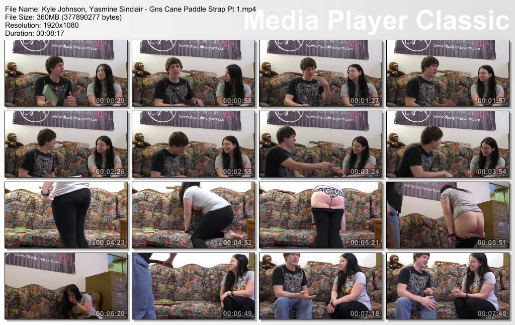 thumbs20210303234519 - Disciplinary Arts – MP4/Full HD – Kyle Johnson, Yasmine Sinclair - Gns Cane Paddle Strap Pt 1 (Release date: Feb. 12, 2021)