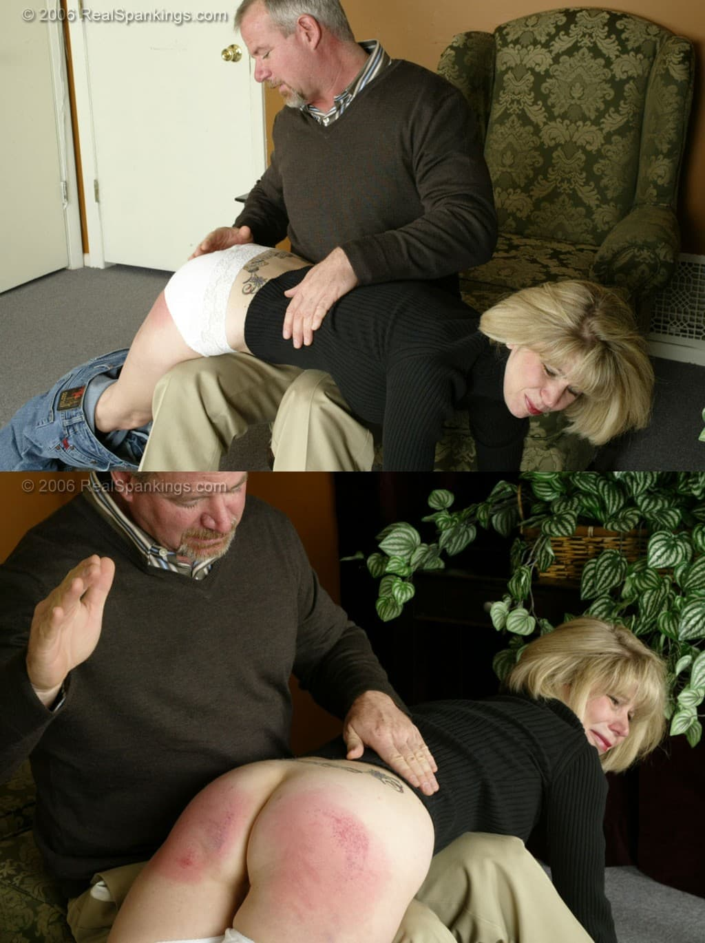 2021 04 07 121030 1 - Real Spankings – MP4/SD – Elizabeth: Punished In The Living Room (Part 1) (Release date: Apr 06, 2021) - OTK (Over The Knee)
