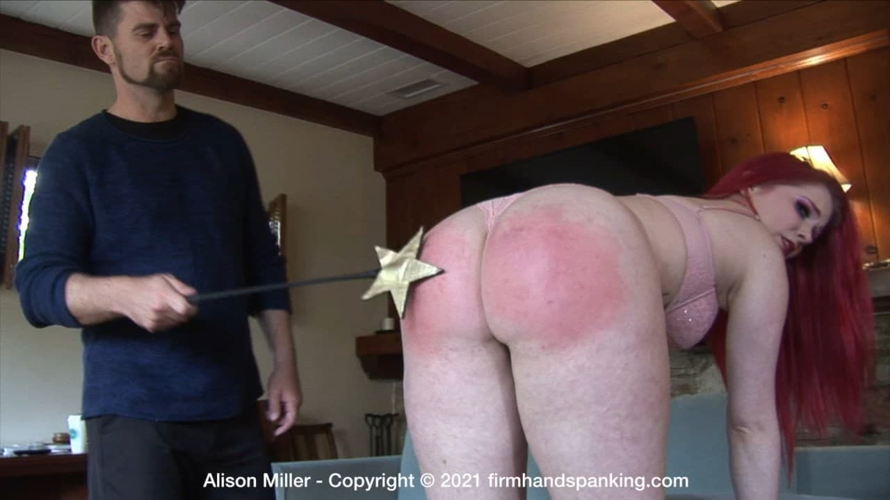 Alison Miller Diva Model J.mp4 snapshot 03.42.920 - Firm Hand Spanking – MP4/HD – Alison Miller - Diva Model - J/Alison Miller's grand finale spanking has her bare bottom marked with stars! (Release date: Apr 09, 2021)