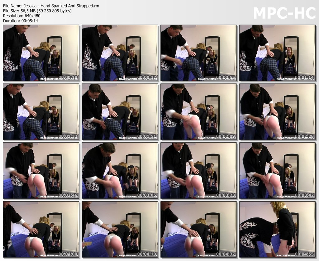 Jessica Hand Spanked And Strapped.rm thumbs - Spanking Teen Jessica – RM/SD – Jessica - Hand Spanked And Strapped