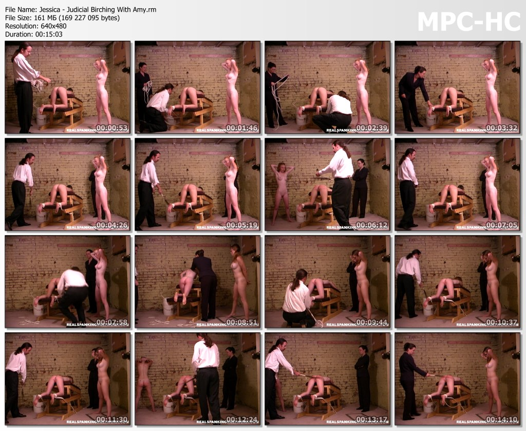 Jessica Judicial Birching With Amy.rm thumbs - Spanking Teen Jessica – RM/SD – Jessica - Judicial Birching With Amy
