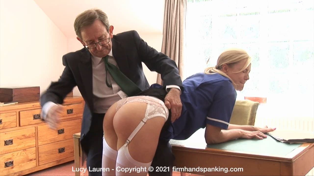 Firm Hand Spanking – MP4/HD – Lucy Lauren – Spanked In Uniform – Zb