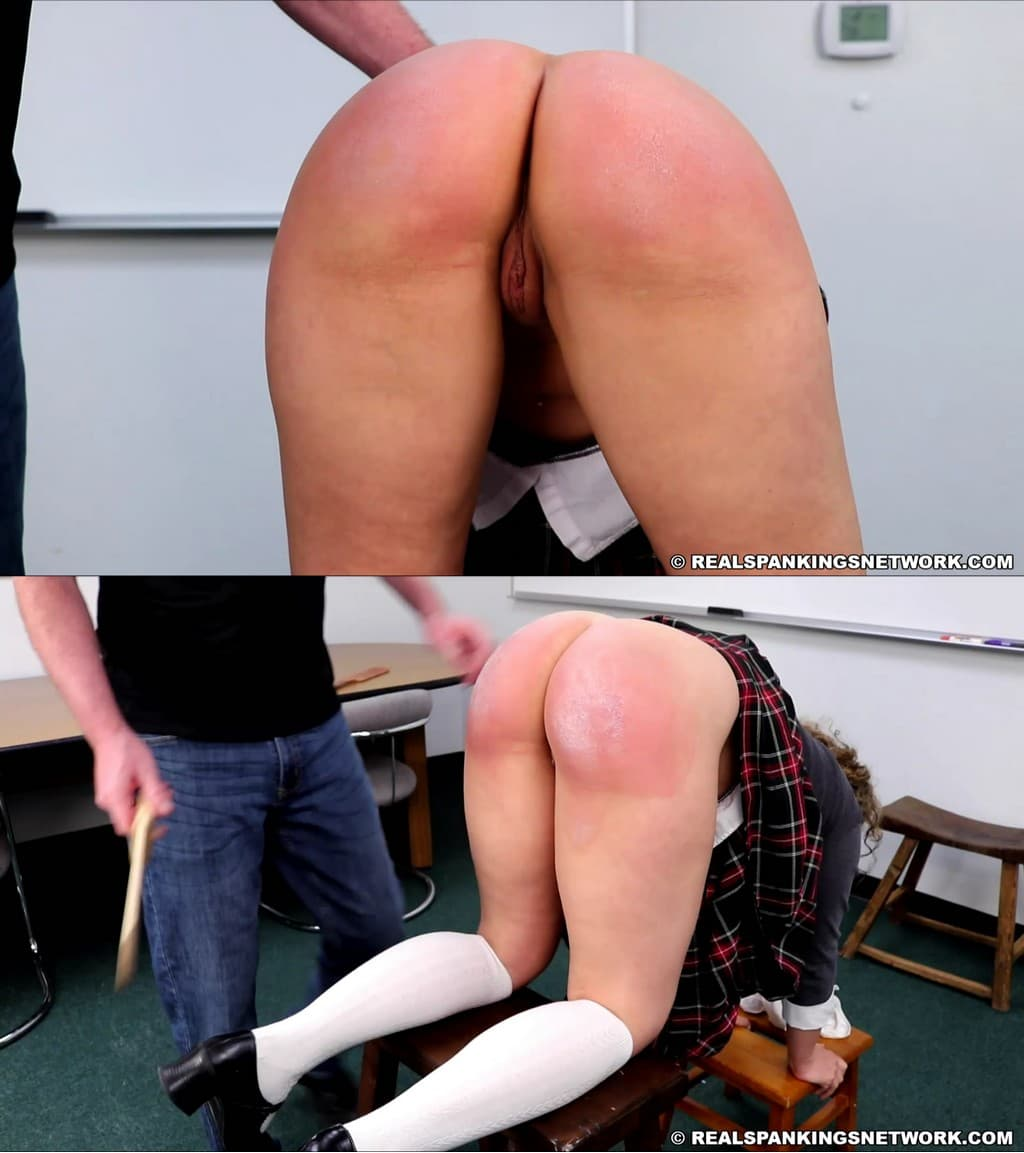 Real Spankings Institute – Kiki Cali Kiki Caught With No Panties part 2 Of 2 image 1 - Real Spankings Institute – MP4/Full HD – Kiki Cali - Kiki Caught With No Panties (part 2 Of 2) - Cheek-To-Cheek Wooden Paddle