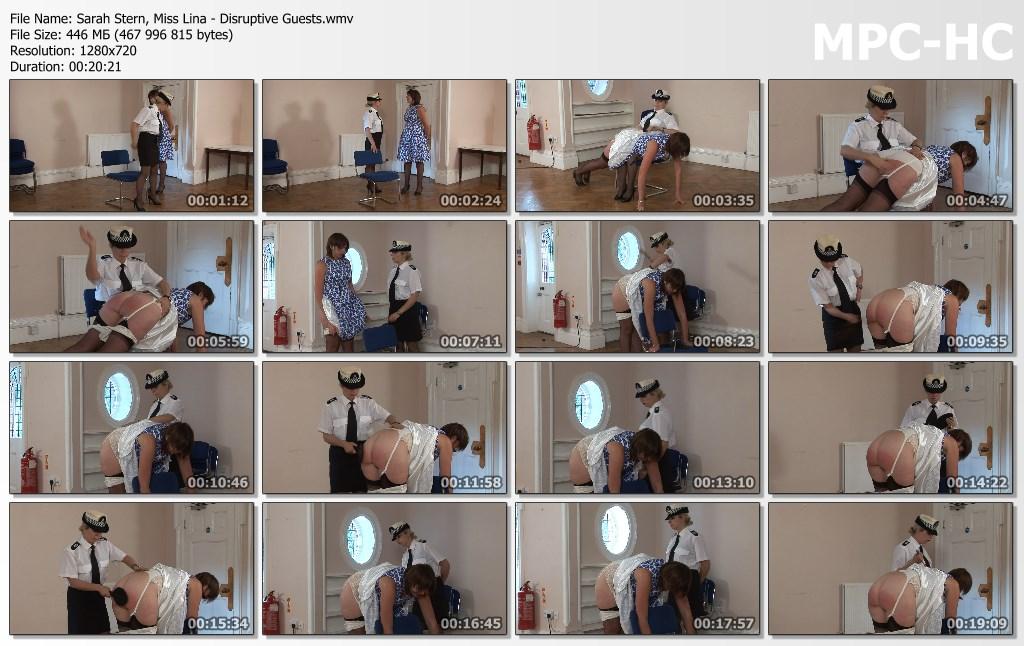 Sarah Stern Miss Lina Disruptive Guests.wmv thumbs - Spanked Cheeks – MP4/HD – Sarah Stern, Miss Lina - Disruptive Guests
