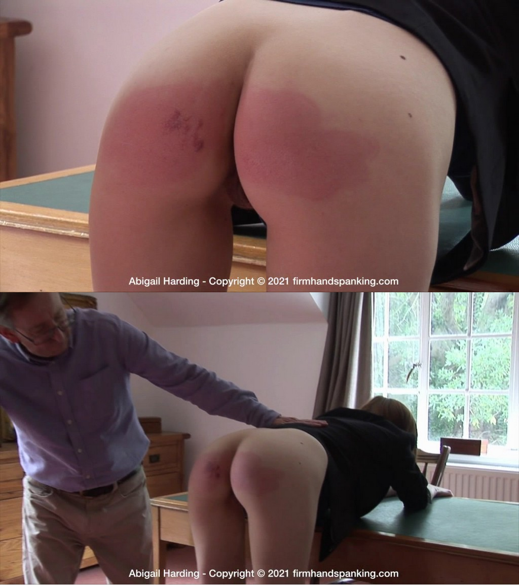 Firm Hand Spanking – MP4/HD – Abigail Harding – The Estate – D/ Stinging strapping across her bare bottom is a salutary lesson for Abigail (Release date: May 05, 2021)