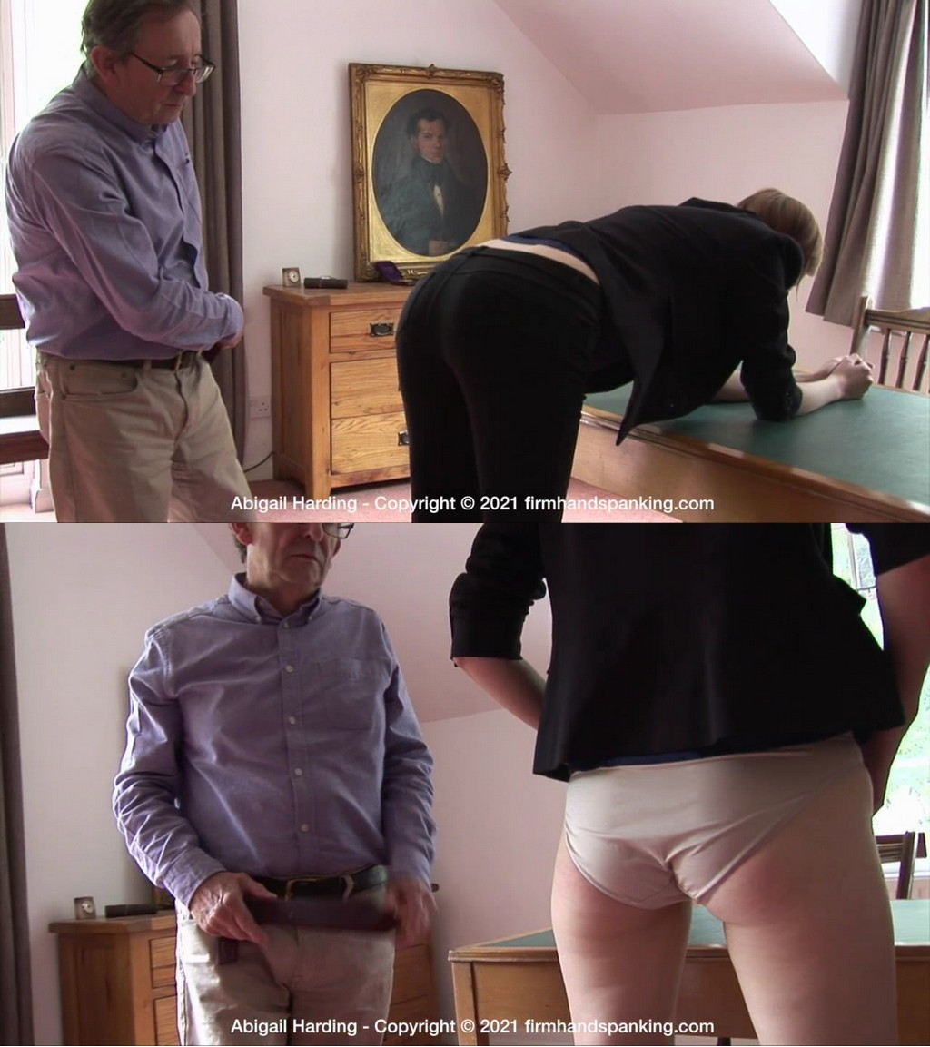 Firm Hand Spanking – MP4/HD – Abigail Harding – The Estate – C/New employee Abigail Harding faces tough discipline with a strap at The Estate (Release date: Apr. 28, 2021)