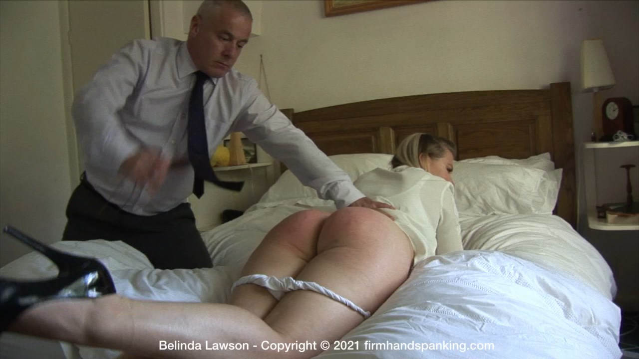 Belinda Lawson Leather Princess K.mp4 snapshot 05.28.000 - Firm Hand Spanking – MP4/HD – Belinda Lawson - Leather Princess - K/Panties pulled down, Belinda's bare bottom is spanked red with a leather paddle (Release date: Apr. 23, 2021)
