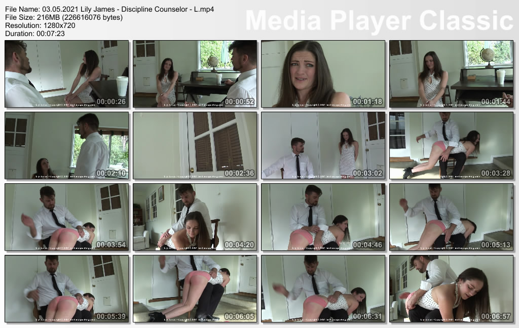 thumbs20210506224356 - Firm Hand Spanking – MP4/HD – Lily James - Discipline Counselor - L/NEW MODEL! Lily James has her bare bottom soundly spanked for disrespect (Release date: May 03, 2021)