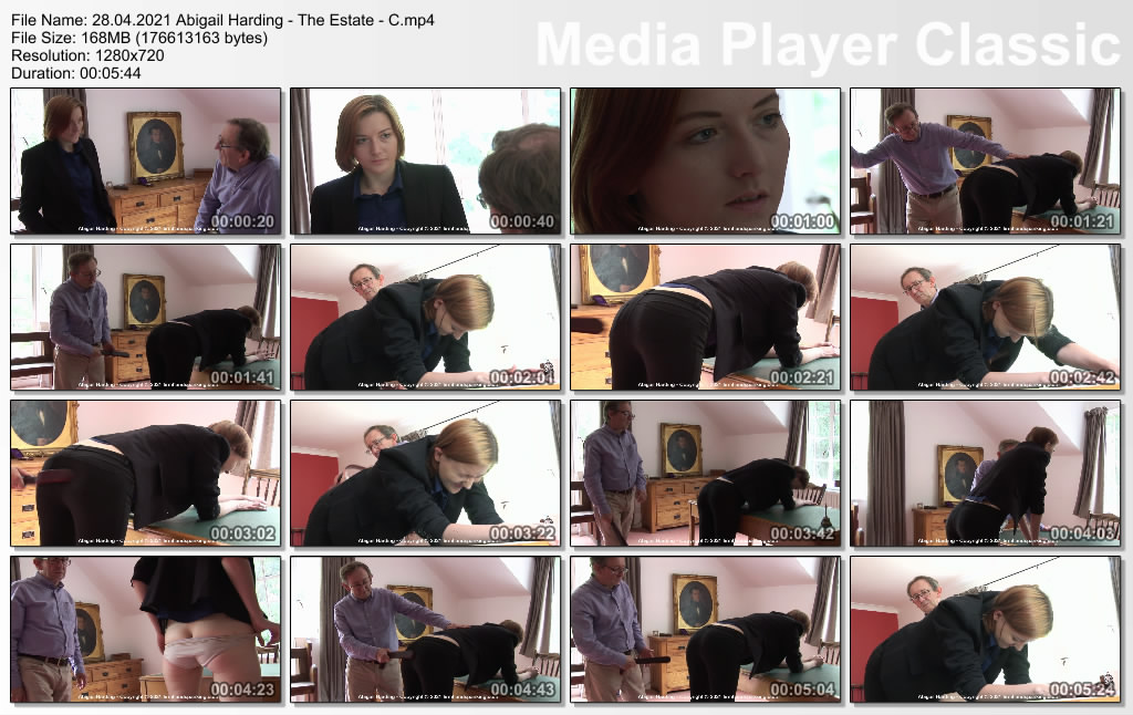 thumbs20210507002603 - Firm Hand Spanking – MP4/HD – Abigail Harding - The Estate - C/New employee Abigail Harding faces tough discipline with a strap at The Estate (Release date: Apr. 28, 2021)