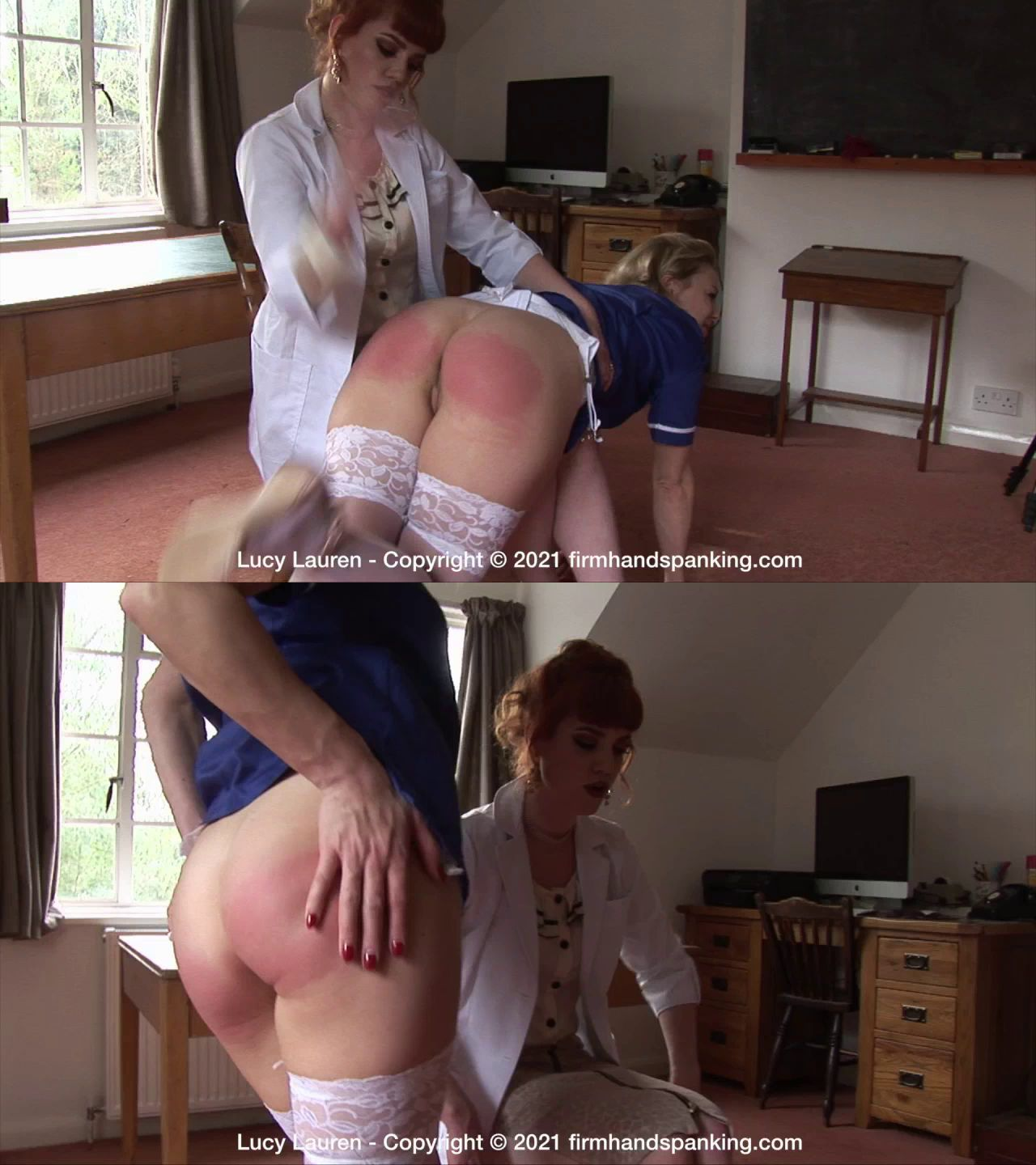 Firm Hand Spanking – MP4/HD – Lucy Lauren – The Clinic/Epic bare bottom spanking for Lucy Lauren from her new boss