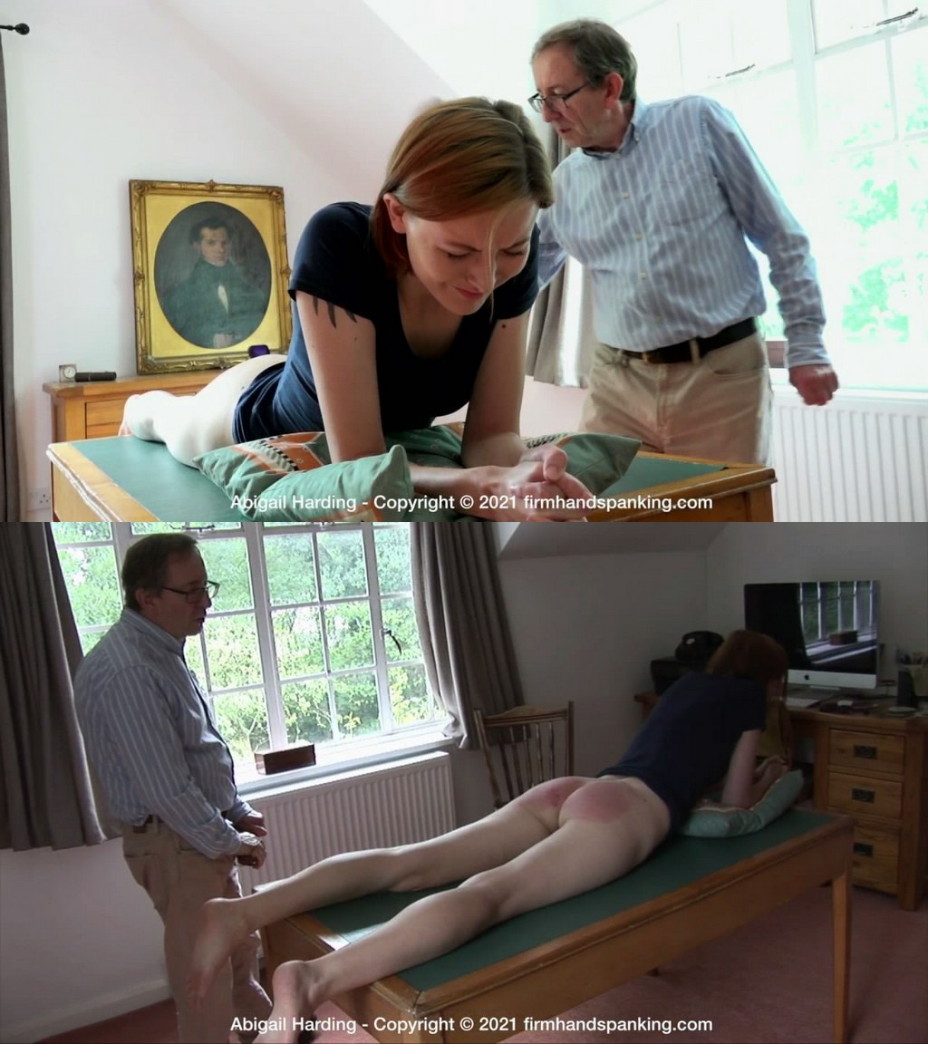 Firm Hand Spanking – MP4/HD – Abigail Harding – The Estate – G/Lacking respect costs Abigail Harding a sound spanking with a leather paddle (Release date: May 26, 2021)