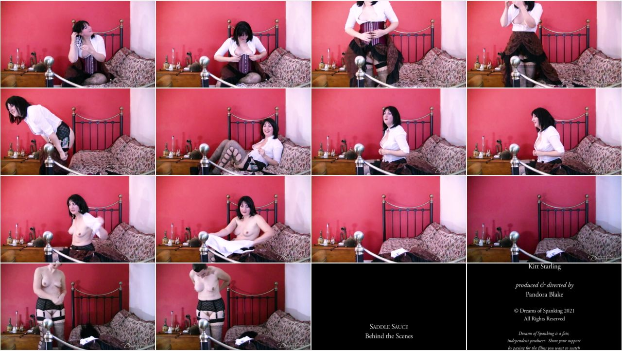 saddle sauce behind the scenes screen - Dreams of Spanking - MP4/Full HD – Pandora Blake, David Oak - Saddle Sauce