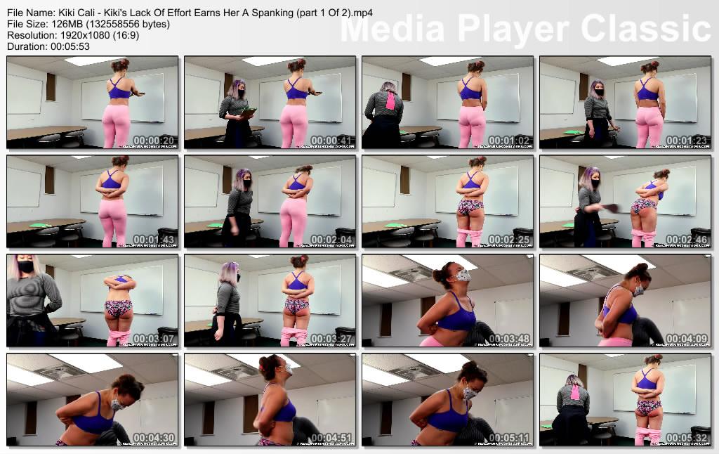 thumbs20210616005647 - Real Spankings Institute – MP4/Full HD – Kiki Cali - Kiki's Lack Of Effort Earns Her A Spanking (part 1 Of 2)