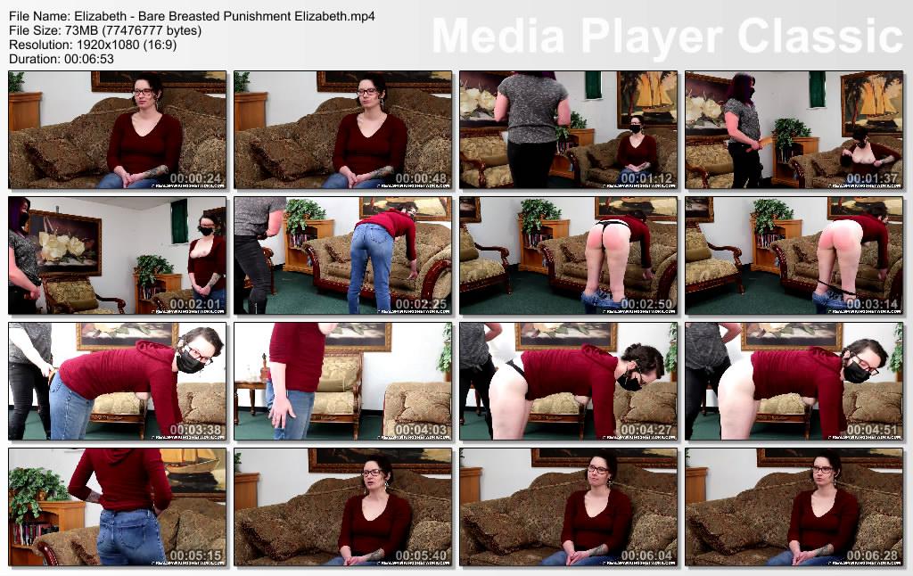 thumbs20210616010214 - Real Spankings – MP4/Full HD – Elizabeth - Bare Breasted Punishment: Elizabeth