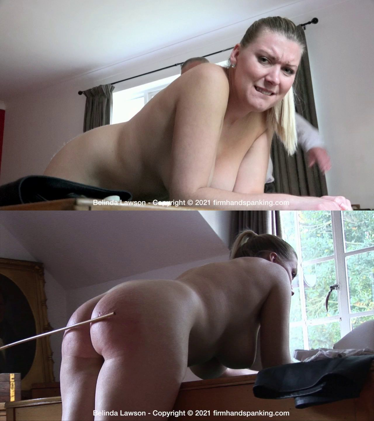 Firm Hand Spanking – MP4/HD – Belinda Lawson – Leather Princess/Finale caning for Belinda Lawson – impressively, beautifully, totally nude!