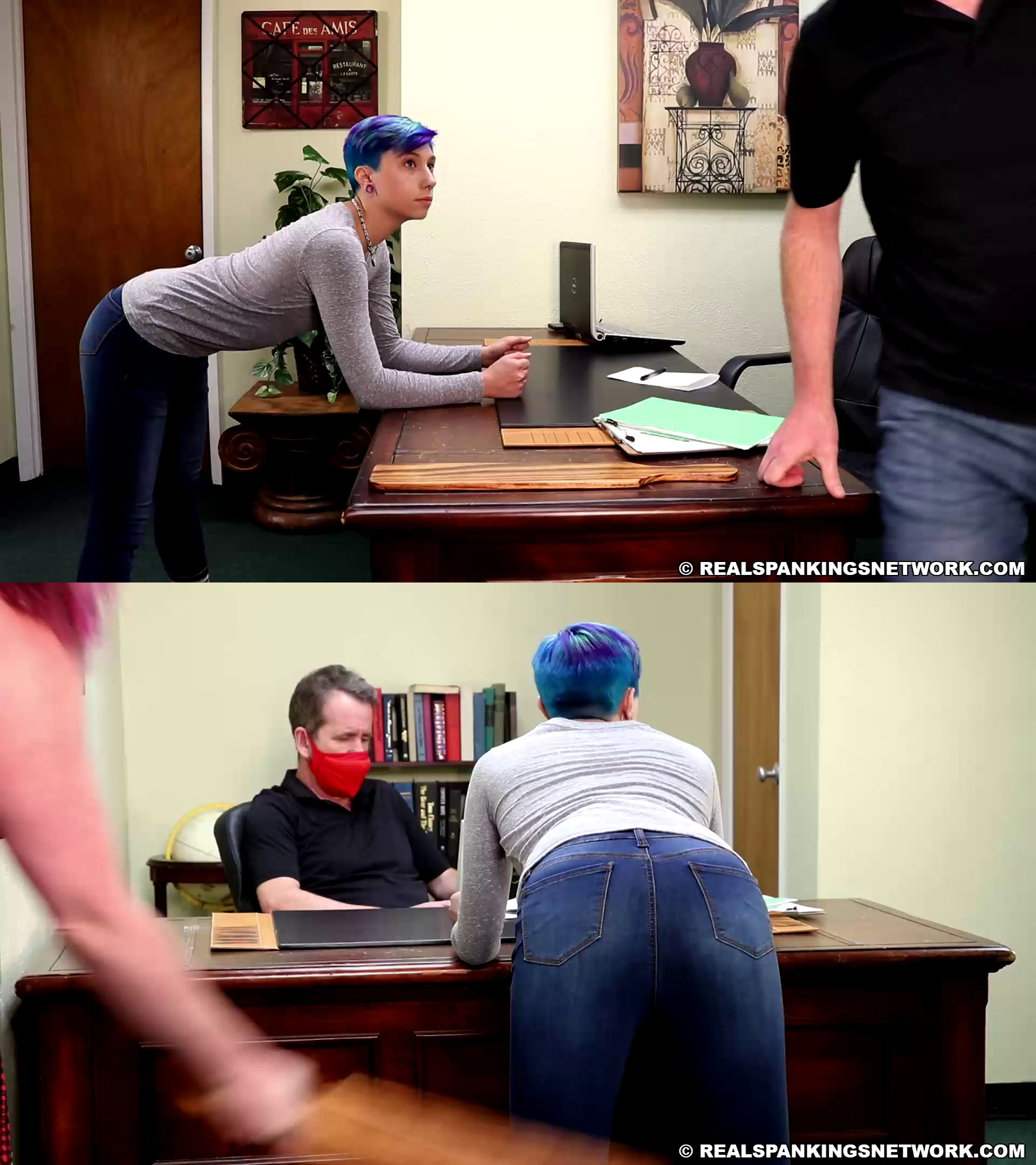 realspankings – MP4/HD – Kaitlynn – Paddled For Leaving Campus