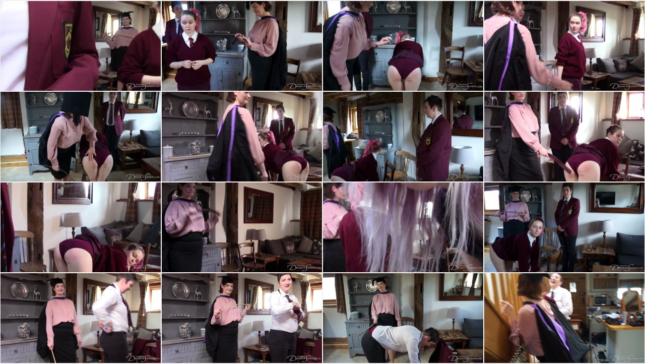 cane curious behind the scenes screen - Dreams of Spanking - MP4/Full HD – Faerie Willow, Clara Hewitt, Pandora Blake - The Cane And The Curious