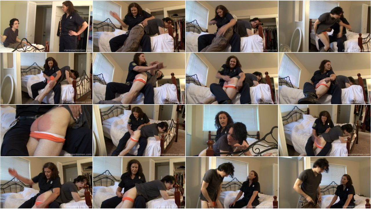 chrisCop screen - Clare Spanks Men - MP4/Full HD – Miss Chris - Kade Spanked By His Mom The Cop