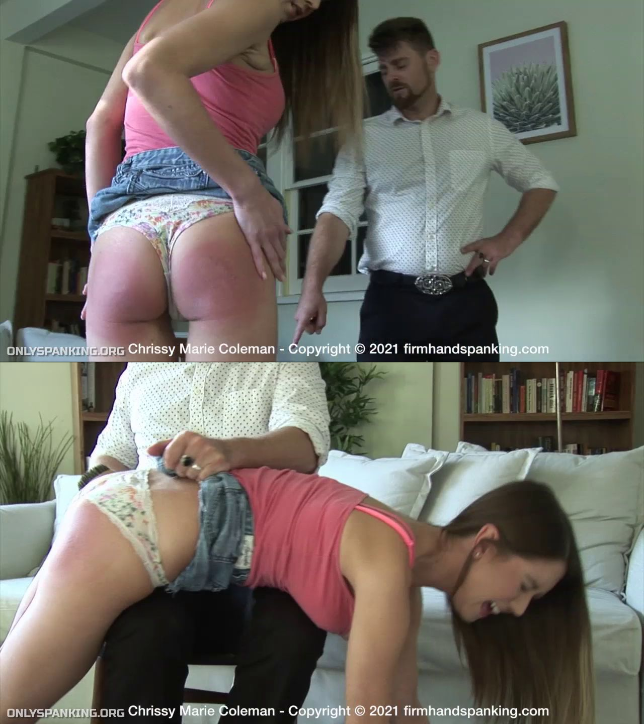Firm Hand Spanking – MP4/HD – Chrissy Marie – Country Girl/Will petite Chrissy Marie Coleman survive being spanked with a wooden hairbrush?  (Release date: Aug. 16, 2021)