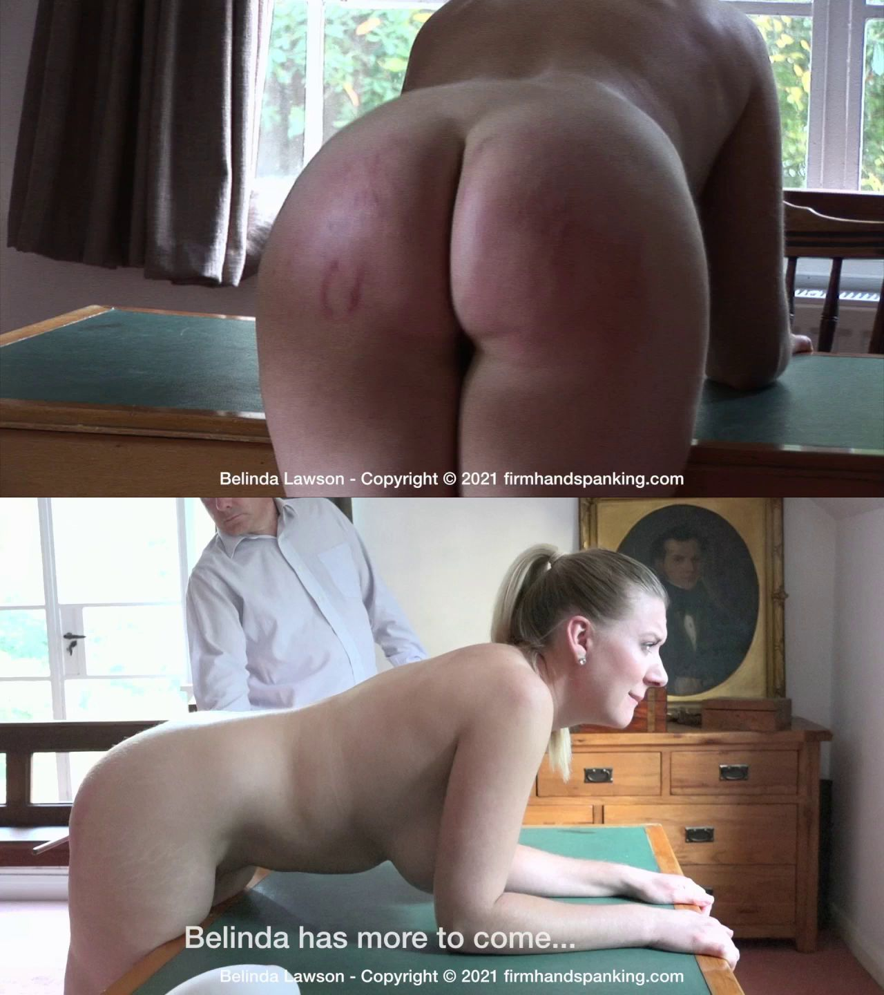 firmhandspanking – MP4/HD – Belinda Lawson – Leather Princess/Totally nude bottom-striping caning finale for Belinda Lawson