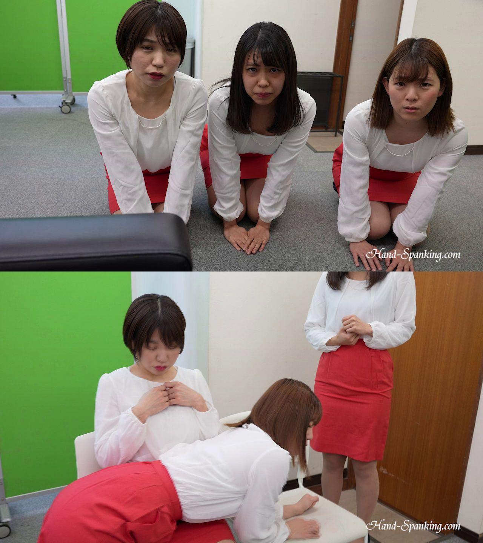 hand-spanking – MP4/HD – Yuu, Noa, Fuka – Triangle Spanking I