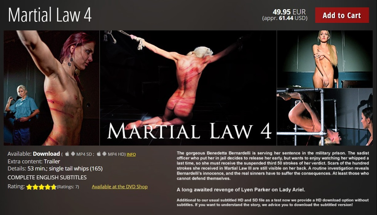 Elite Pain/Mood Pictures – MP4/HD – Martial Law 4