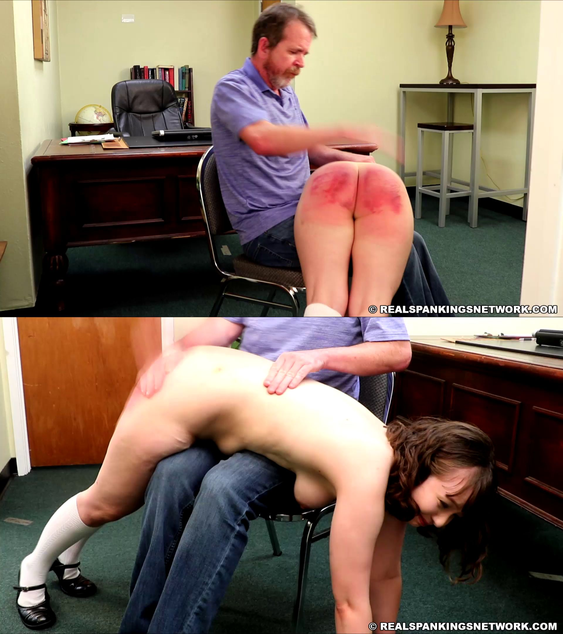 Real Spankings Institute/Real Spankings Network – MP4/Full HD – Ella – Ella's Painful Day With The Dean (part 3 Of 3)