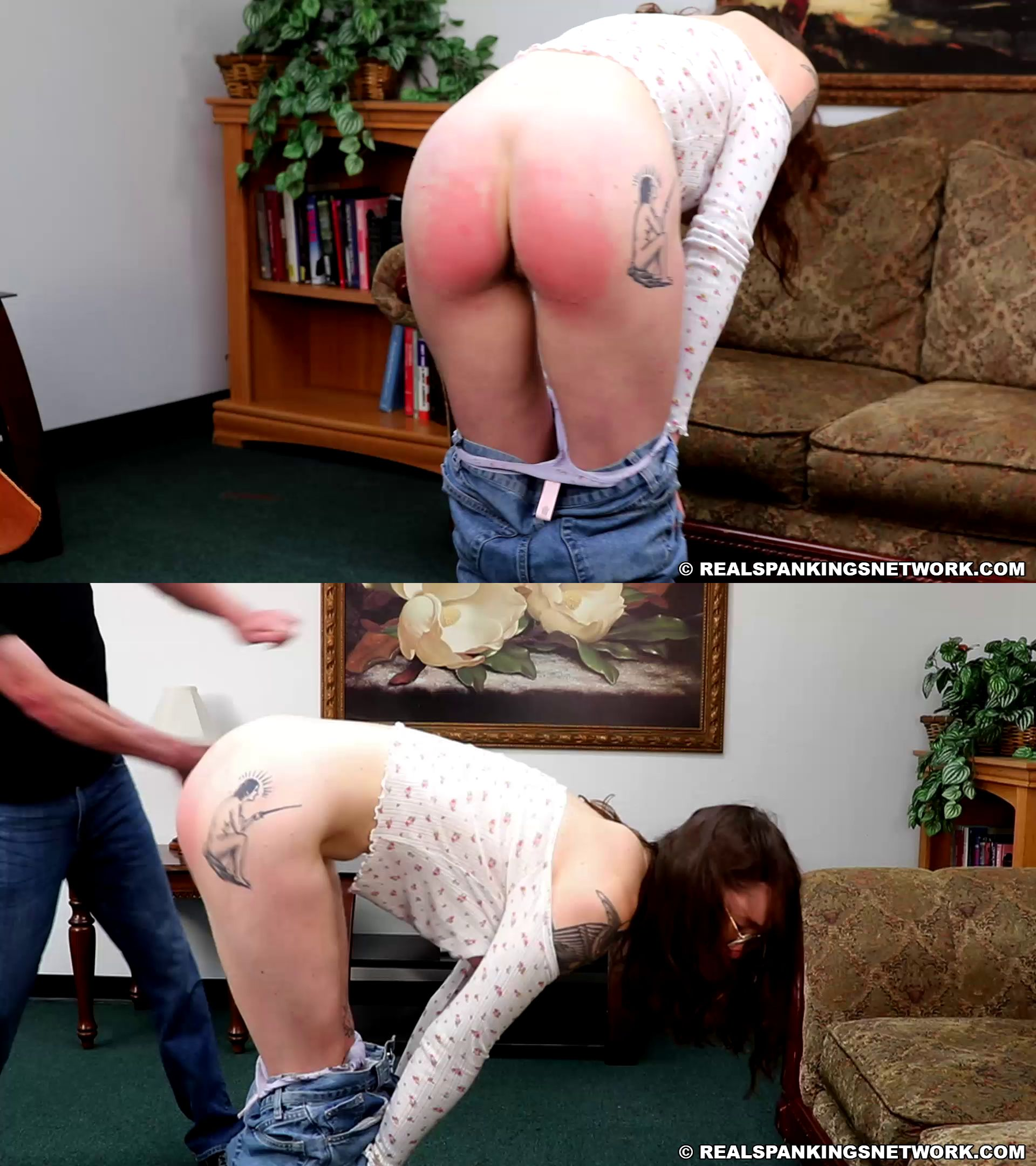 Real Spankings /Real Spankings Network- MP4/HD – Lizzie – Lizzie: Bare Breasted Punishment