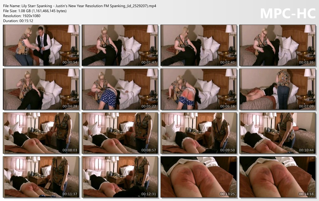 Lily Starr Spanking Justins New Year Resolution FM Spanking id 2529207.mp4 thumbs - Lily Starr Spanking - MP4/Full HD - SEVERE REAL DISCIPLINE: Justin's New Year's Resolutions (Exclusive)