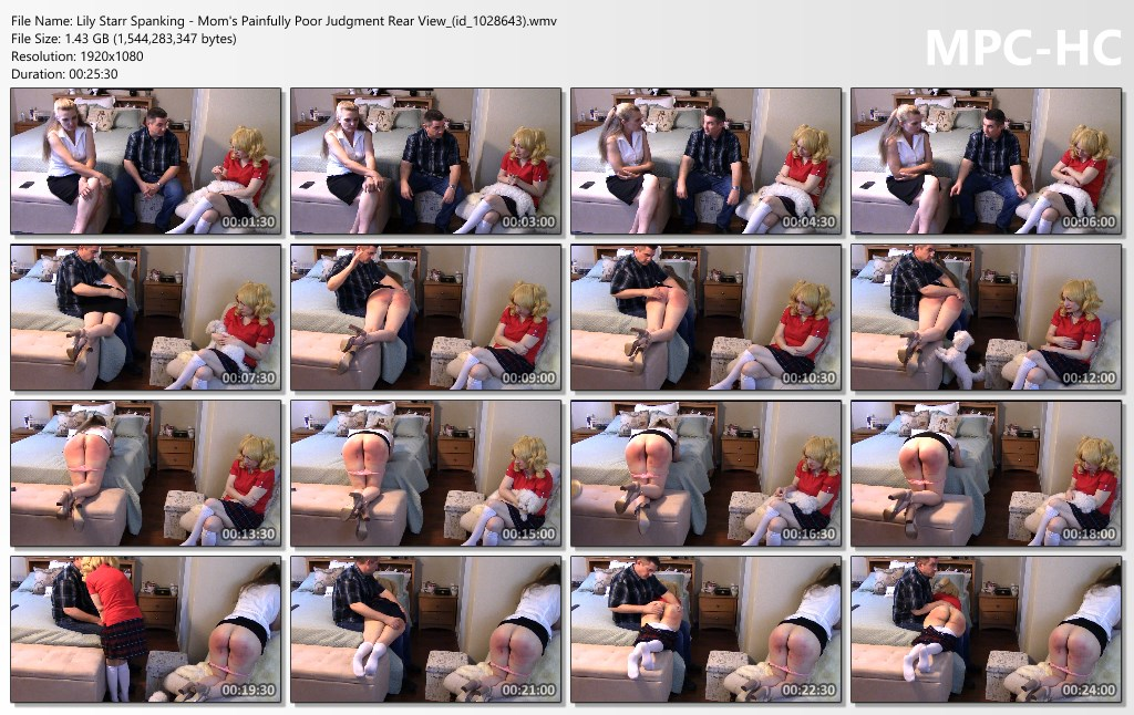 Lily Starr Spanking Moms Painfully Poor Judgment Rear View id 1028643.wmv thumbs - Lily Starr Spanking - MP4/Full HD - SEVERE! Mom's Painfully Poor Judgment: Mom & Schoolgirl Stepdaughter Punished Together By Dad For Lying By Omission - Miss Anna Spanked To Sobb   (Exclusive)