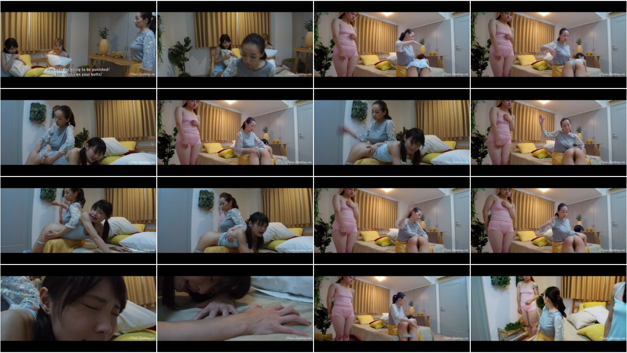 Pillowfight1 en screen - Hand-Spanking - MP4/HD – Seira, Rina, Miki - Pillow Fight (Eng Sub)