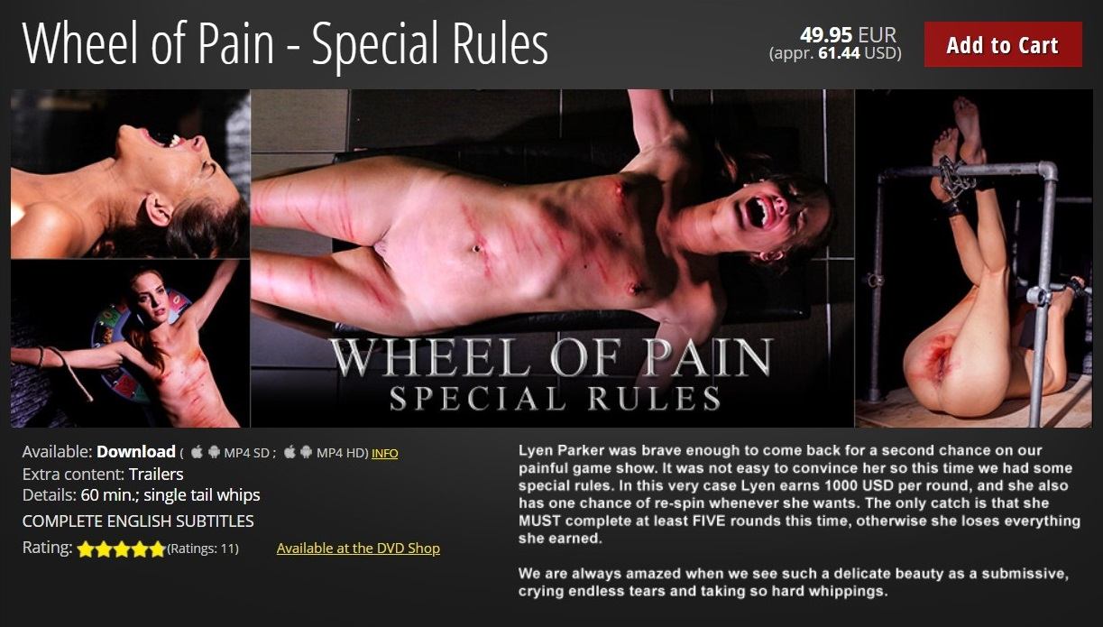 Elite Pain – MP4/HD – Wheel of Pain – Special Rules